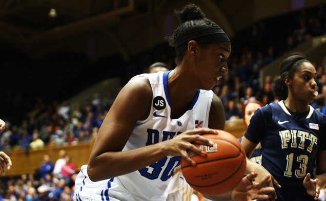 Amber Henson scored a career-high 13 points off the bench as the Blue Devils throttled Pittsburgh.