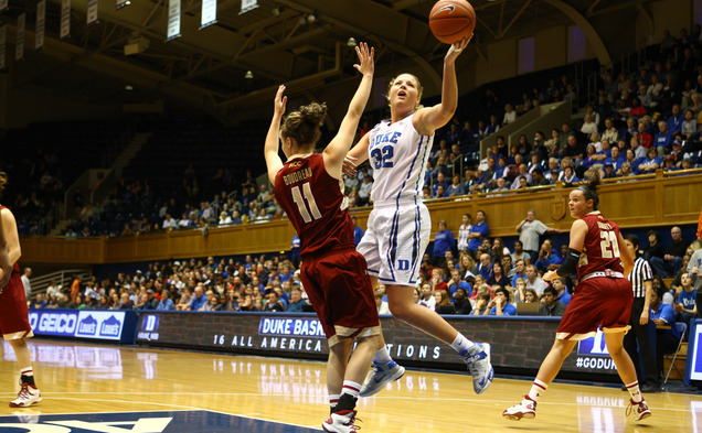Senior Tricia Liston scored 21 of her 25 points after halftime as the Blue Devils needed a late run to knock off Florida State in overtime.