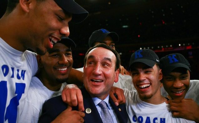 Head coach Mike Krzyzewski earned his 1,000th career victory Sunday against St. John's.