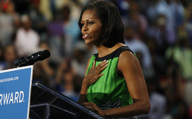 First lady Michelle Obama visited North Carolina Central University Wednesday to speak with students about the importance of voting in the upcoming presidential election.