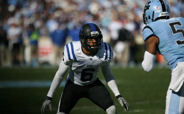 Former Duke cornerback Ross Cockrell was selected in the fourth round of the NFL draft, 109th overall, by the Buffalo Bills.
