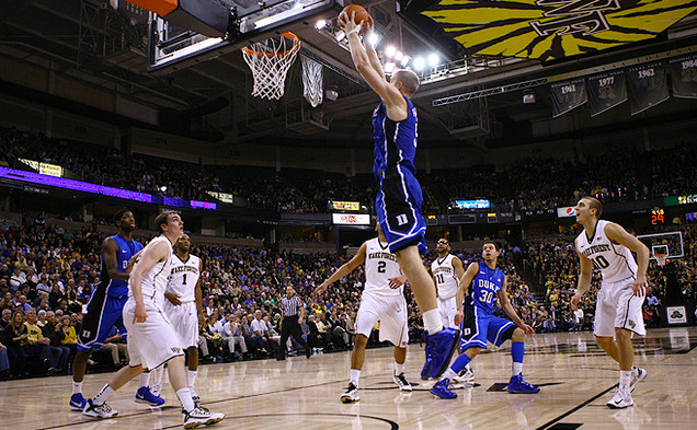 Senior Mason Plumlee scored a career-high 32 points and added 9 rebounds in Duke's win over Wake Forest.