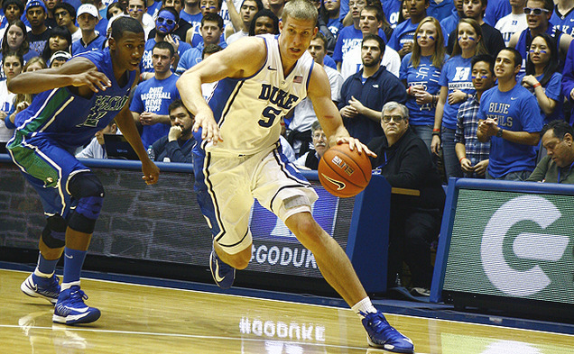 Mason Plumlee has proven to be a weapon on both ends for Duke this season.