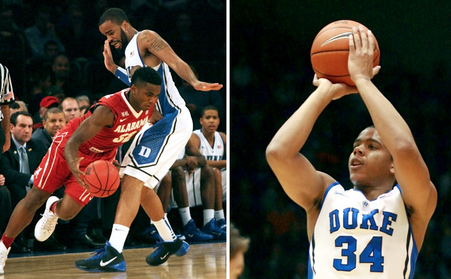 Josh Hairston's charge-taking ability and Andre Dawkins' 3-point stroke are two of Duke players' trademark qualities.