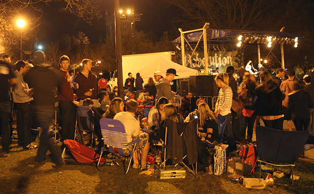 Duke students can enjoy the Personal Checks concert Saturday while they tent for the UNC game.