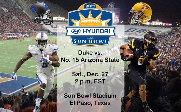 Duke will head to its third-straight bowl game for the first time in program history as it takes on No. 15 Arizona State Dec. 27.
