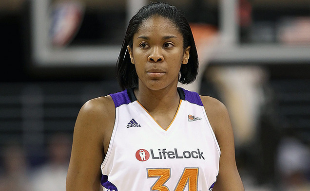 After graduating from Duke in 2012, 6-foot-5 center Krystal Thomas is one of eight Blue Devils currently playing in the WNBA.