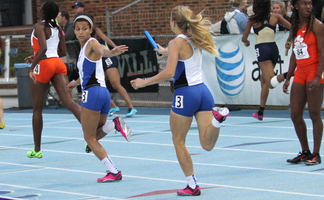 Duke's 4-x-400 relay will try to bring home the gold when they take the track Thursday.