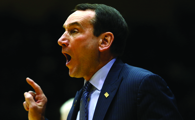 Head coach Mike Krzyzewski will go for his 1,000th career victory Sunday in Madison Square Garden against St. John's.