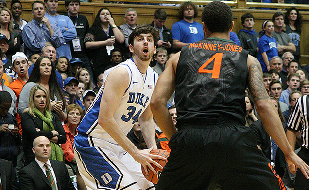Ryan Kelly scored a career-high 36 points in his return to the court to lead Duke to victory over Miami.