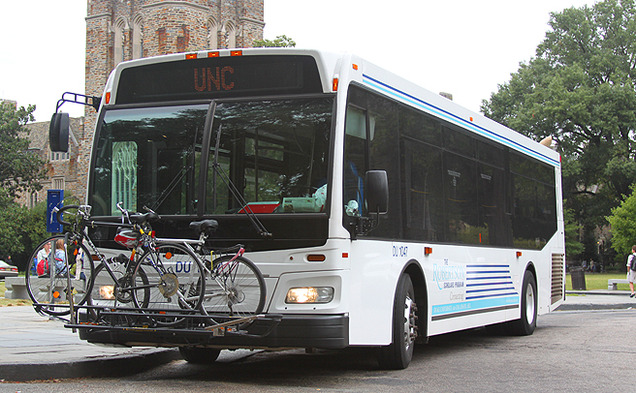 The grace period for riding the Robertson Scholars bus has ended. Starting this past Friday, the bus charges $2.50 for a ride between Duke and UNC. Duke students can easily get a free GoPass, but the process is more difficult for UNC students.