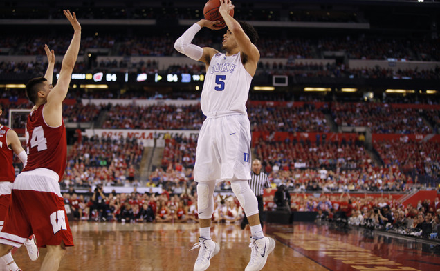 Freshman point guard Tyus Jones entered the NBA Draft after leading Duke to the national championship.