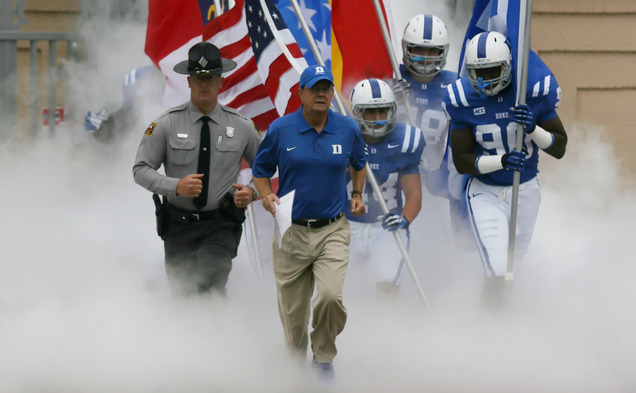 The arrival of Duke head coach David Cutcliffe gave the Blue Devils new life, but the journey to national prominence was a lengthy one.