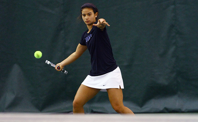 The No. 10 singles player in the nation, Hannah Mar is the top singles player for Duke.