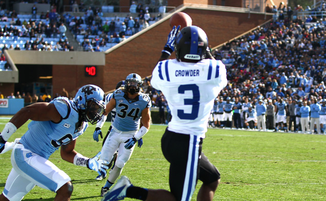 Junior wide receiver Jamison Crowder was one of four Blue Devils to earn first-team All-ACC honors.