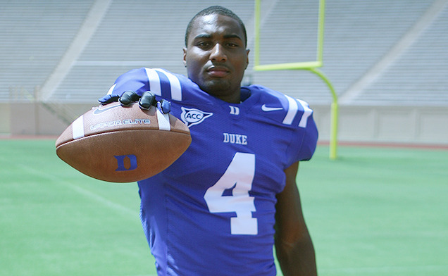 Duke senior safety Walt Canty recorded a team-leading 102 tackles this season for the Blue Devils.