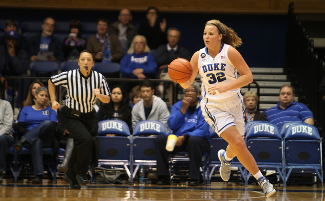 Tricia Liston scored 20 points and knocked down 5-of-7 shots from beyond the arc as the Blue Devils upended Syracuse at the Carrier Dome.