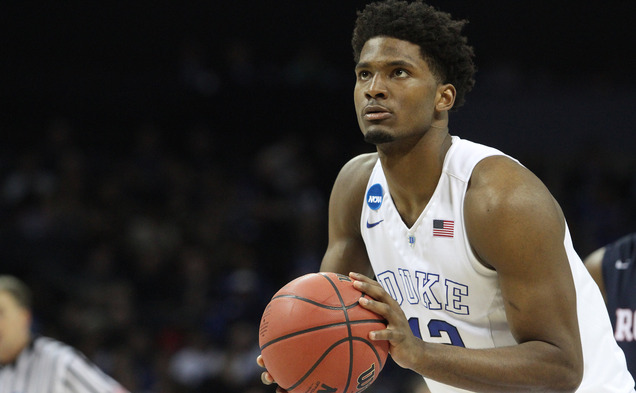 Freshman Justise Winslow averaged 9.5 points and 11.5 rebounds in his first two NCAA tournament games and will now play in front of a home crowd in Houston during Friday's Sweet 16 clash with Utah.