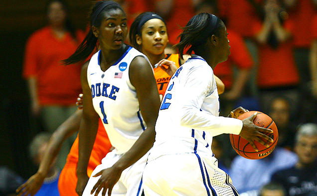 Elizabeth Williams returns to her home state as Duke takes on Nebraska in the Sweet 16 in Norfolk, Va.