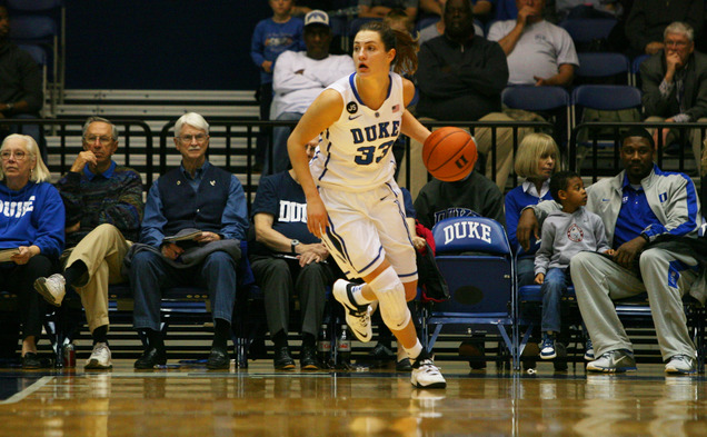 Senior Haley Peters scored a game-high 17 points on 8-of-12 shooting to help Duke to bounce back from Tuesday's loss.
