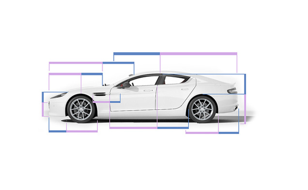 The Rapide S Aston Martin sports car's exterior was designed according to the golden ratio. Engineering professor Adrian Bejan believes that the golden ratio has evolutionary aesthetic appeal.