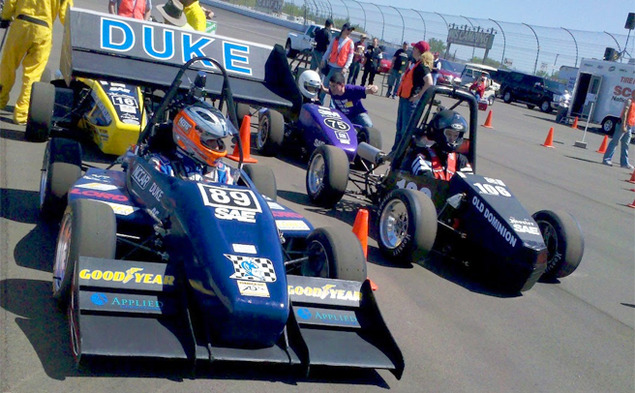 The Duke University Motorsports team took 12th place at a competition held by the Society of Automobile Engineers at the Michigan International Speedway.