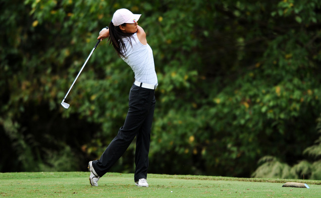 After capturing the individual title in her last event, sophomore Sandy Choi hit a rough patch at the Annika Intercollegiate, bogeying four straight holes in her final round Tuesday.