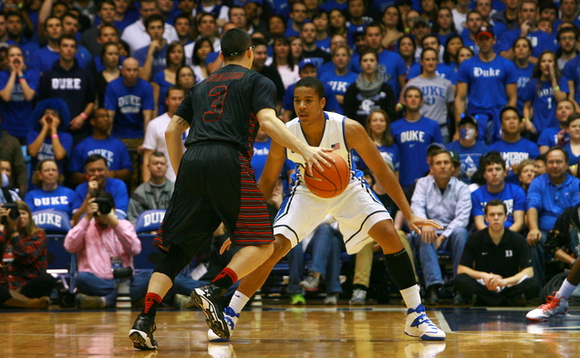 Redshirt senior Andre Dawkins stepped up for Duke, pouring in 18 points off the bench in an 85-66 victory against Gardner-Webb.