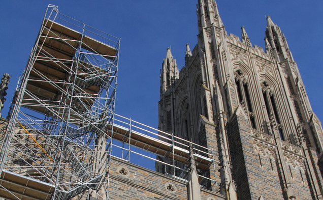 The Chapel is currently undergoing renovations.
