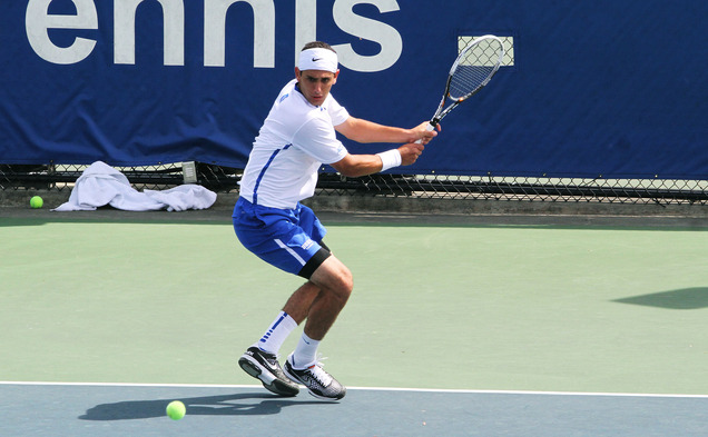 Fred Saba bested North Carolina's Ronnie Schneider on Senior Day as the No. 14 Blue Devils upended the No. 8 Tar Heels.