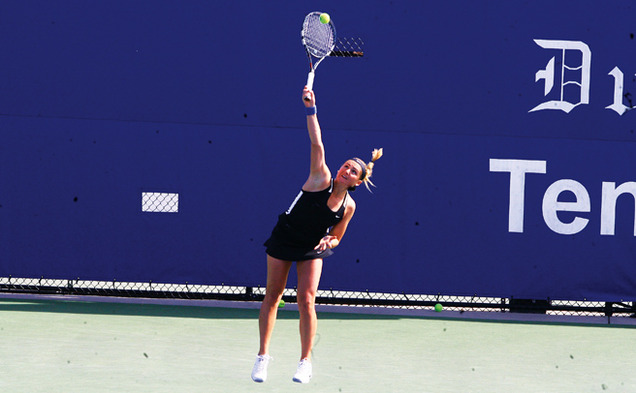 Annie Mulholland took the decisive match against the Seminoles, but Duke fell short against Miami.