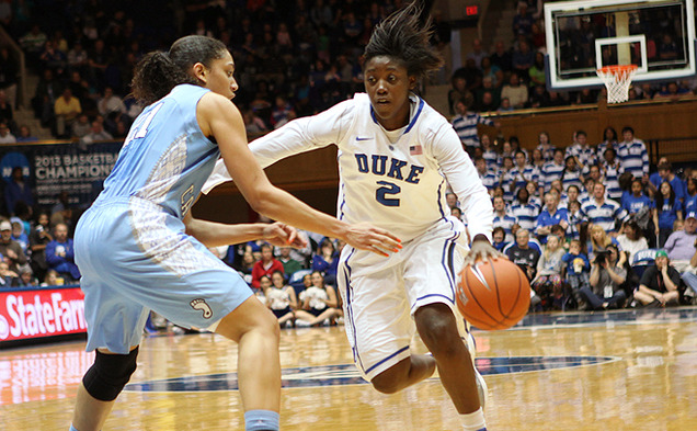 With Chelsea Gray injured, freshman Alexis Jones has stepped up to handle the Duke offense.