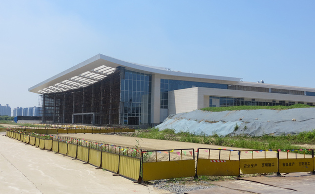The Duke Kunshan University academic building is still under construction, but admins expect it will be ready for students to arrive Fall 2014.