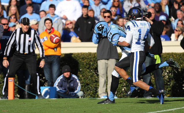 Cornerback Bryon Fields was one of many Duke freshman to make an impact on the Blue Devil defense during the 2014 season.