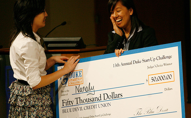 Nanoly won the $50,000 grand prize in the annual Duke Start-Up Challenge Friday.