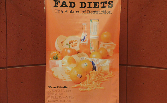 Part of the Celebrate Our Bodies Week was a poster campaign dedicated to raising awareness about fad diets.