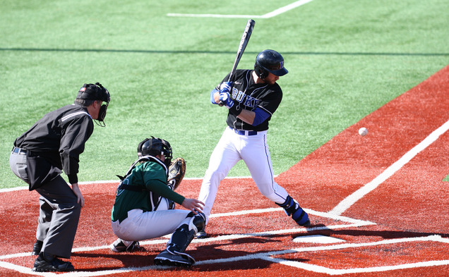 Catcher Mike Rosenfeld went 1-for-3 with a two-run triple in Duke's 11-1 drubbing of Norfolk State Wednesday afternoon.