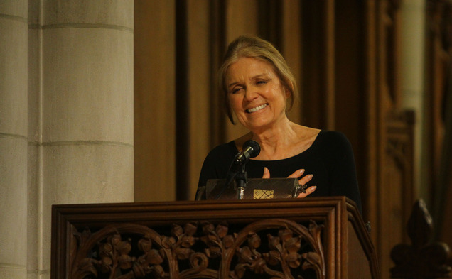 "Gloria Steinem told a sold-out crowd at the Duke Chapel that ""there is no such thing as gender, race or class."""