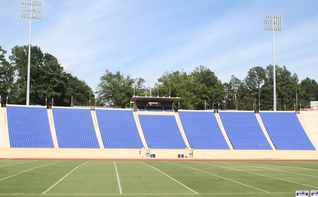 Wallace Wade Stadium received a colorful facelift this offseason with the addition of 6,346 blue chair-back seats.