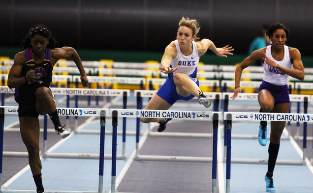 Duke topped North Carolina on both the men's and women's sides at the Carolina Cup, something director of track and field Norm Ogilvie said has never happened before.