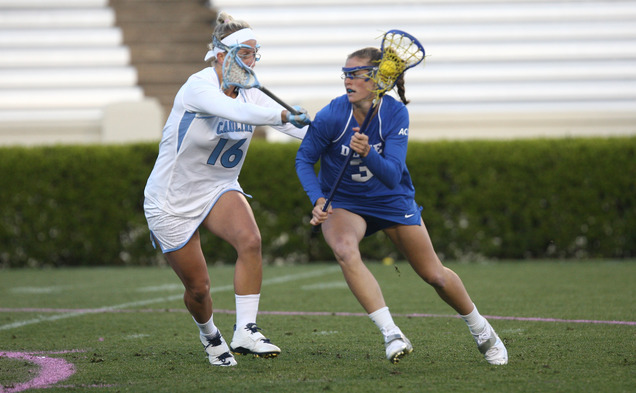 Senior Maddy Morrissey had a career-high six points against Notre Dame in Duke's 10-8 win Sunday.