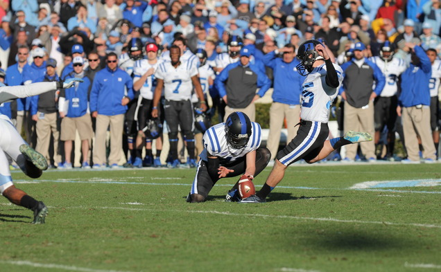 Ross Martin came through in the clutch for Duke, knocking through the go-ahead field goal that sent the Blue Devils to the ACC championship game.