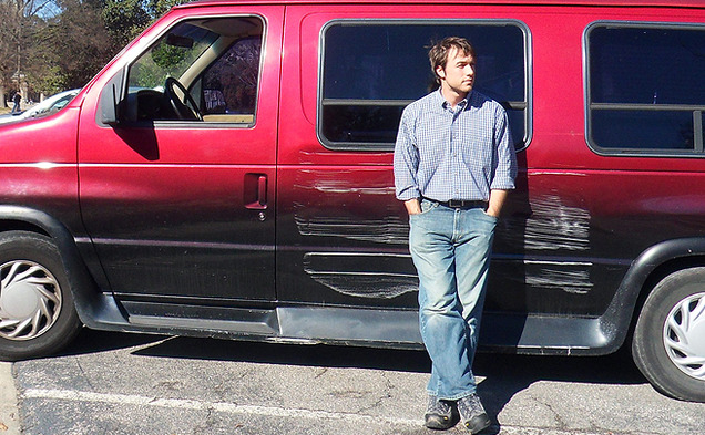 Ken Ilgunas lived  in his van while he attended Duke's Graduate school's liberal art's program.