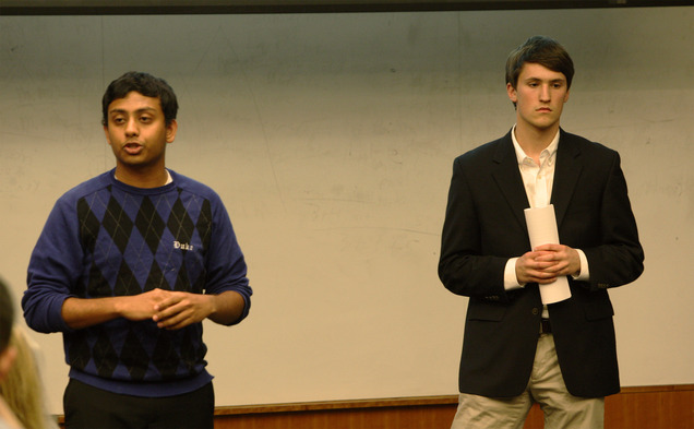 Senators Abhi Sanka and James Ferencsik proposed the new 25 Percent Compromise to the Senate Wednesday night.