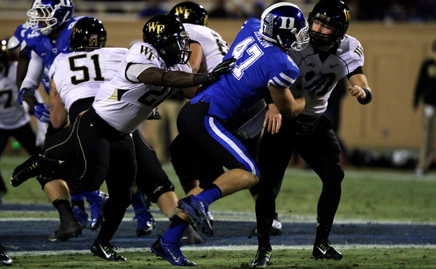 Linebacker David Helton became the first player in Duke history to finish as a Lott IMPACT Trophy finalist Sunday.