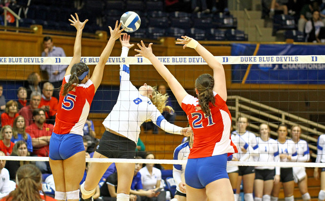 An upstart American squad upset Duke in straight sets at Cameron Indoor Stadium to knock Duke out of the NCAA tournament.