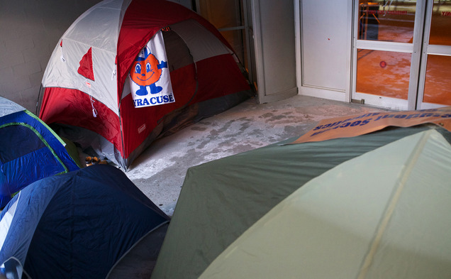Syracuse students have taken a page out of Duke's book by camping out for this weekend's matchup between the Blue Devils and Orange.