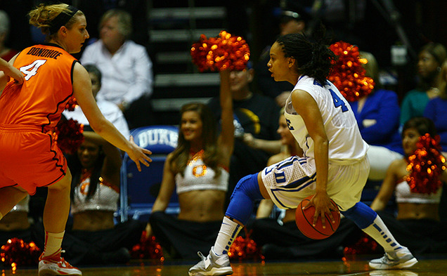 "Junior Chloe Wells was ""the catalyst and instigator of a lot of instigation"" against Oklahoma State, Duke head coach Joanne P. McCallie said."
