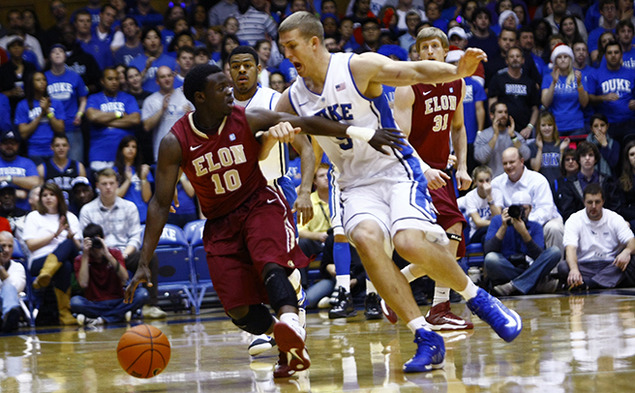 Mason Plumlee had his seventh double-double of the season against Elon, scoring 21 points and pulling down 15 rebounds.