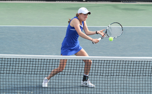 The Blue Devils won their 13th consecutive match, defeating Boston College 6-1 on Senior Day at Ambler Tennis Stadium.